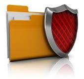 Carpeta protegida Imágenes de archivo libres de regalías