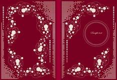Carpeta roja Imágenes de archivo libres de regalías