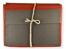 Carpeta roja antigua Imagen de archivo libre de regalías