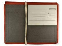 Carpeta roja atada con la cuerda Fotos de archivo libres de regalías