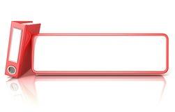 Carpeta roja de la carpeta de la oficina, con la tabla blanca del espacio de la copia Imagen de archivo libre de regalías