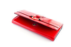 Carpeta roja de la mujer Fotografía de archivo