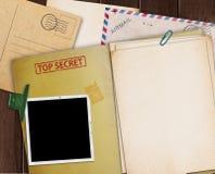 Carpeta secretísima Foto de archivo