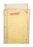 Carpeta secretísima. Foto de archivo libre de regalías