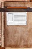 Carpeta vieja imagen de archivo libre de regalías