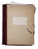 Carpeta vieja con los papeles Fotografía de archivo libre de regalías