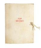 Carpeta vieja para los papeles imagen de archivo libre de regalías