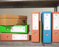 Carpeta y carpeta stock de ilustración
