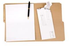 Carpeta y correo de fichero Fotografía de archivo