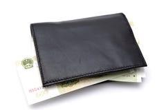 Carpeta y dinero en circulación Fotografía de archivo