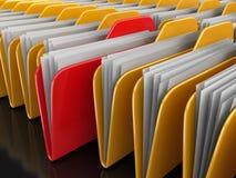 Carpeta y ficheros Imágenes de archivo libres de regalías
