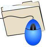 Carpeta y ratón de fichero