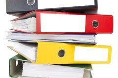 Carpetas aisladas para los documentos Foto de archivo libre de regalías