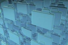 Carpetas azules Fotografía de archivo libre de regalías