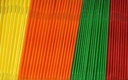 Carpetas coloreadas Foto de archivo libre de regalías