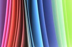 Carpetas coloreadas Imagen de archivo libre de regalías