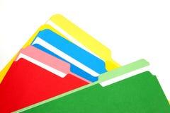 Carpetas coloreadas Imágenes de archivo libres de regalías