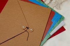 Carpetas coloridas Imagen de archivo libre de regalías
