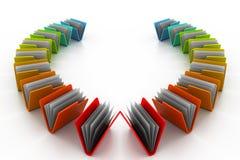 Carpetas coloridas Imágenes de archivo libres de regalías