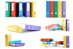 Carpetas coloridas de la oficina Fotos de archivo libres de regalías