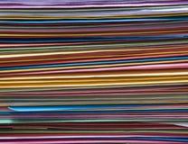 Carpetas coloridas de la oficina sin clasificar Fotografía de archivo libre de regalías
