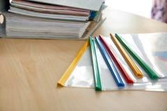 Carpetas con los documentos Fotos de archivo libres de regalías