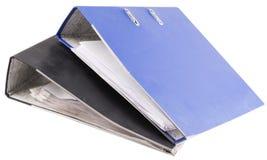 2 carpetas con los documentos Foto de archivo libre de regalías