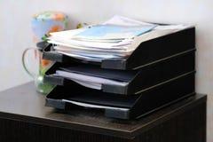 Carpetas con los documentos Foto de archivo libre de regalías