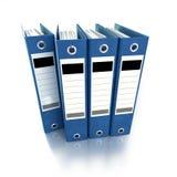 Carpetas de anillo azules Imágenes de archivo libres de regalías