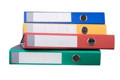 Carpetas de anillo coloridas Imagenes de archivo