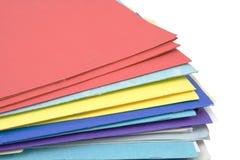 Carpetas de fichero Foto de archivo libre de regalías