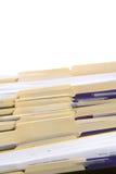 Carpetas de fichero Foto de archivo