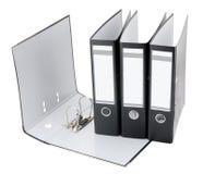 Carpetas de fichero aisladas Imágenes de archivo libres de regalías
