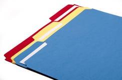 Carpetas de fichero coloridas Fotos de archivo