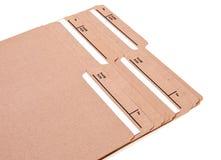 Carpetas de fichero con las tabulaciones conocidas Imagenes de archivo
