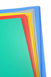 Carpetas de fichero del color aisladas Foto de archivo libre de regalías