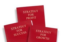 Carpetas de la estrategia empresarial Fotografía de archivo libre de regalías