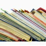 Carpetas de la oficina Fotografía de archivo