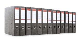 Carpetas de la oficina aisladas en blanco Imágenes de archivo libres de regalías