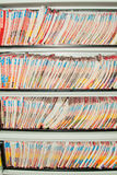 Carpetas de los informes médicos. fotos de archivo libres de regalías