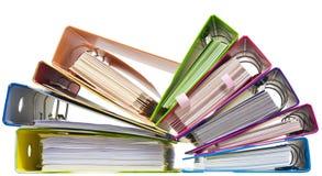 Carpetas de papel del arco iris Fotos de archivo libres de regalías