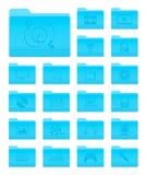 Carpetas del OS X con los iconos de las multimedias Imagenes de archivo