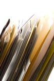 Carpetas en un estante Imágenes de archivo libres de regalías