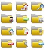 Carpetas fijadas - carpetas 19 de las aplicaciones de las propiedades inmobiliarias Fotos de archivo