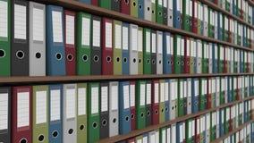 Carpetas multicoloras de la oficina Cgi Foto de archivo