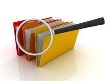 Carpetas o archivo de la búsqueda ilustración del vector