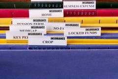Carpetas para los documentos Fotos de archivo libres de regalías