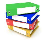 Carpetas para los papeles Imágenes de archivo libres de regalías