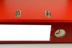 Carpetas rojas imagenes de archivo