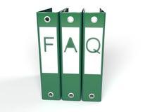 carpetas verdes del FAQ 3d Imágenes de archivo libres de regalías